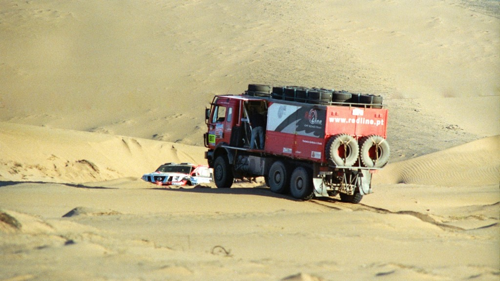 Stranded Dakar Truck in the Atacama